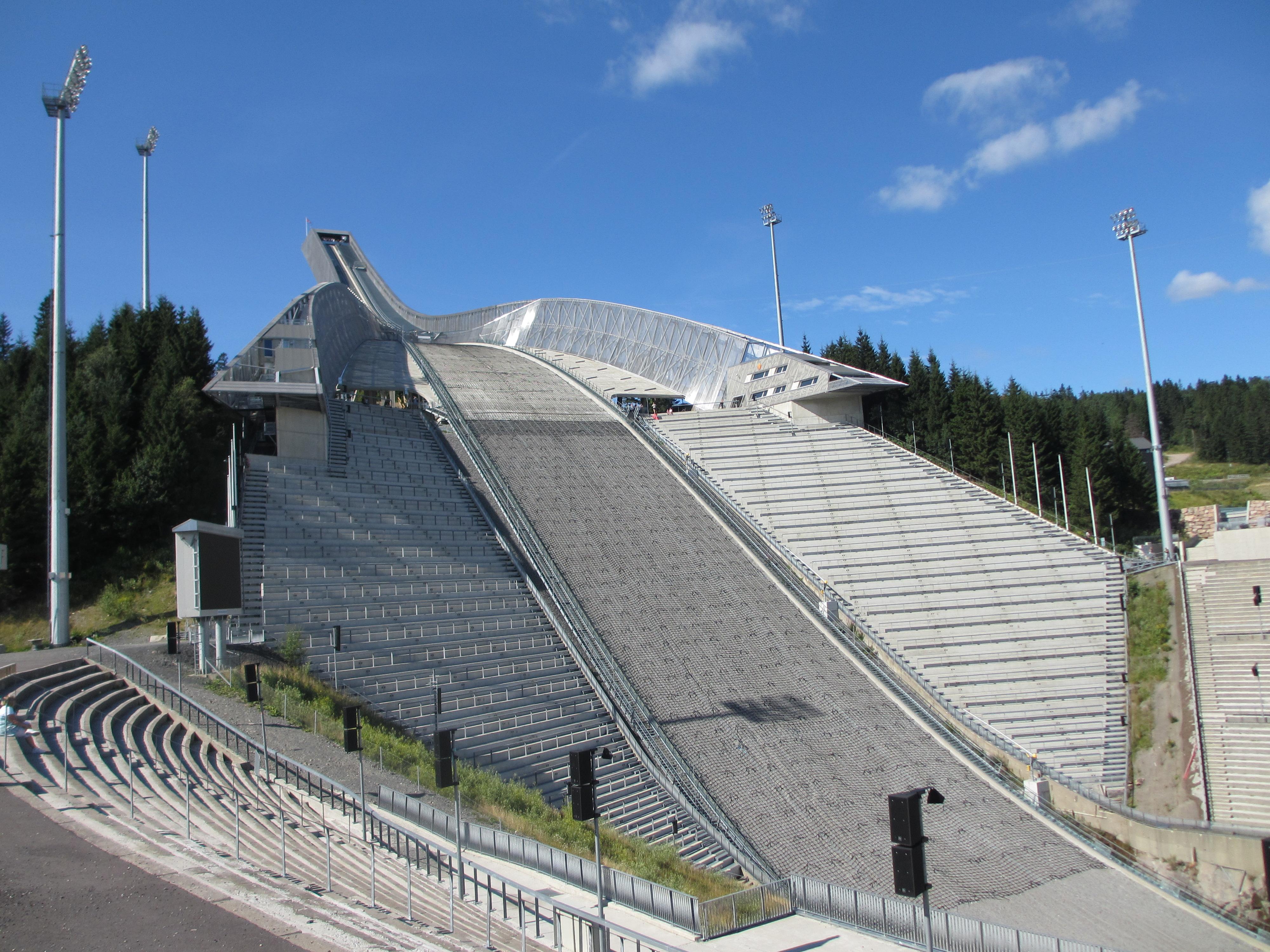 Skocznia Holmenkollen w Oslo.