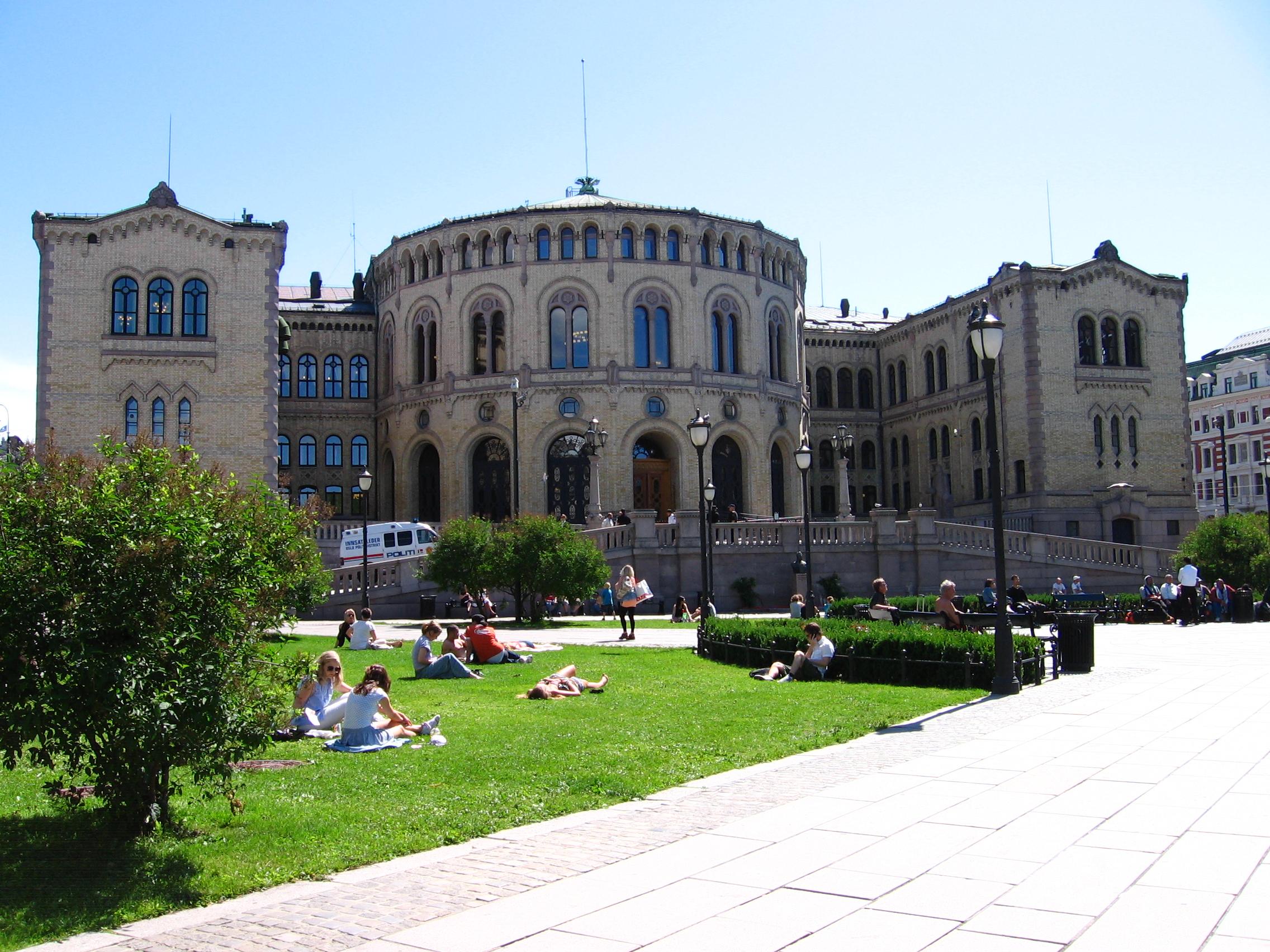 Budynek Stortinget Osl.
